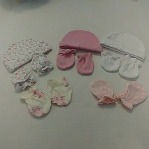 3/$25 Laura Ashley Bundle Newborn Hats & Mittens